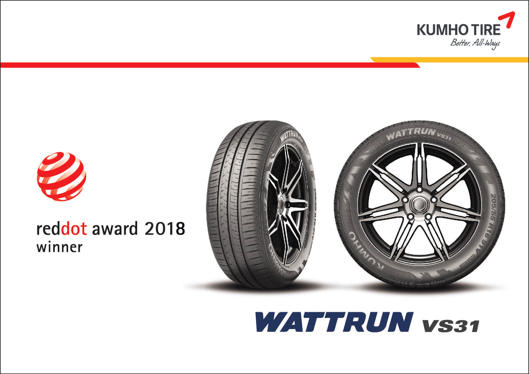 WATTRUN tyres by Kumho have been EV focused since 2013.