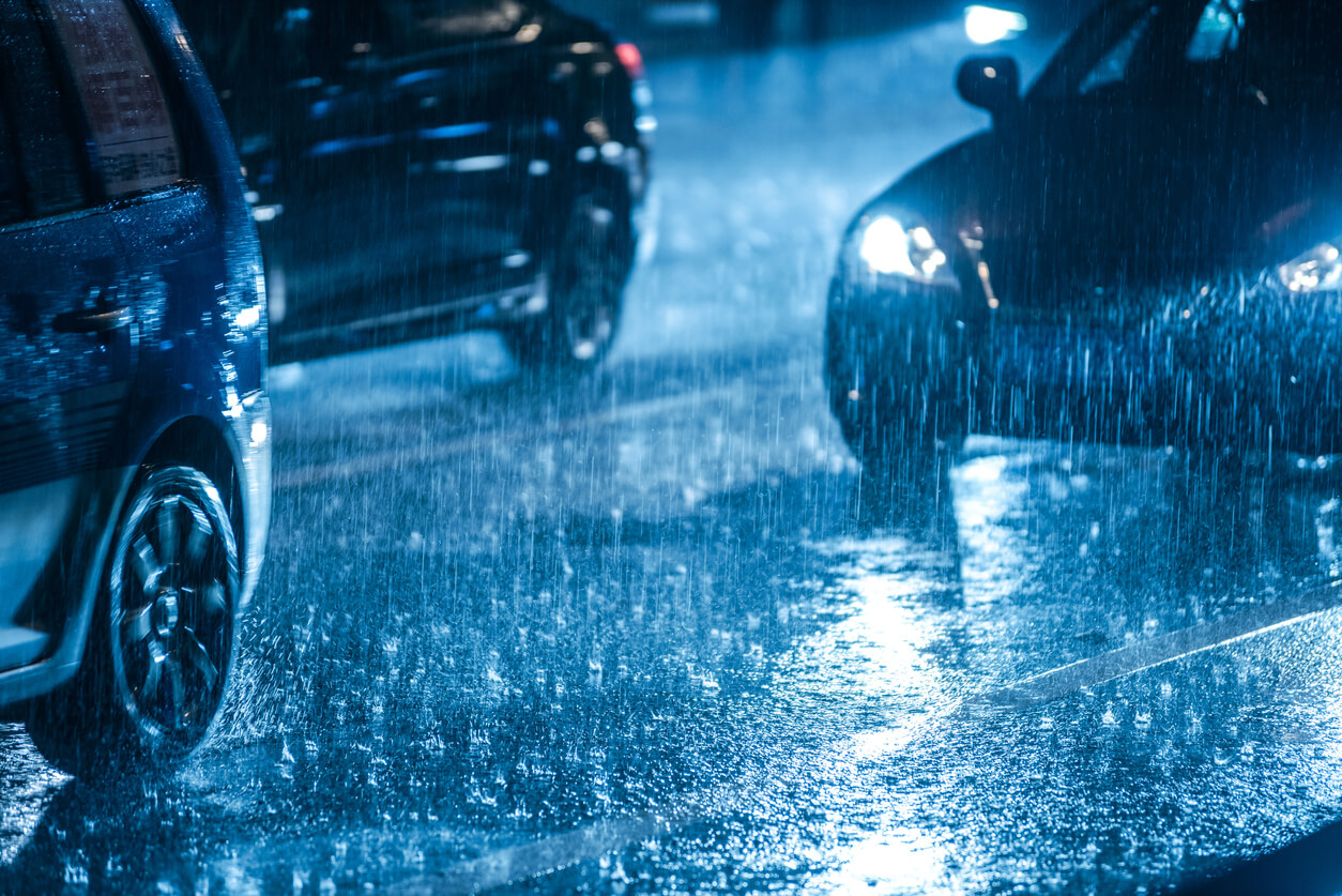 Handling your vehicle in the wet
