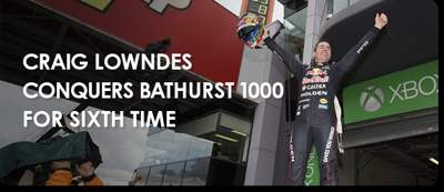 CRAIG LOWNDES CONQUERS BATHURST 1000 FOR SIXTH TIME