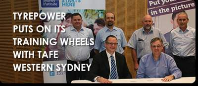 Tyrepower puts on its training wheels with TAFE Western Sydney