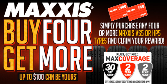 Maxxis Buy 4 Get More May 2021