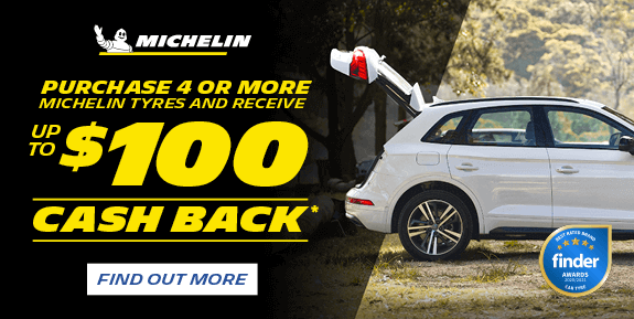 Purchase 4 or more Michelin Tyres and receive up to $100 cash back*